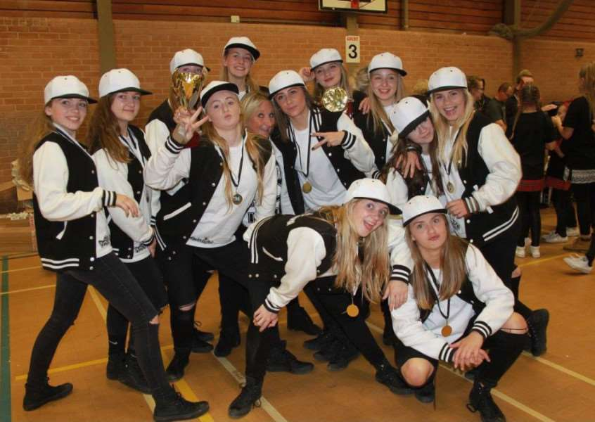 Some of the European Championship qualifiers from south Norfolk-based LK's School of Dance. ANL-160322-162347001