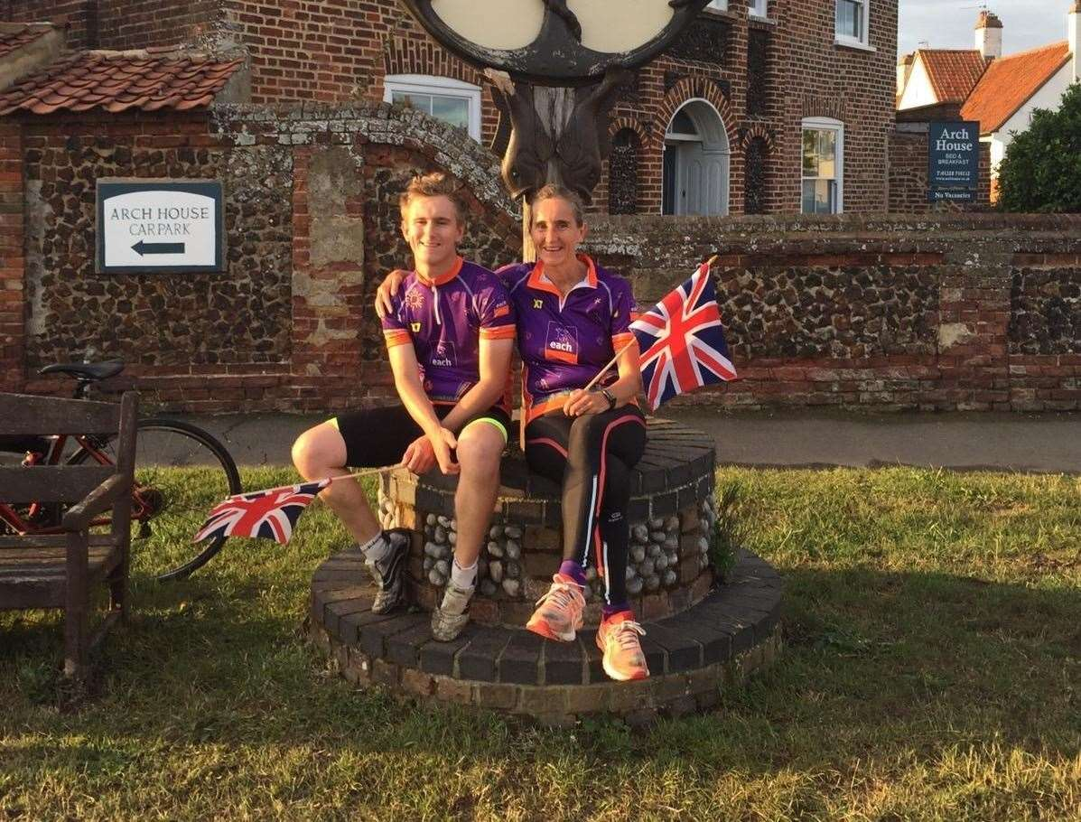 Mother and son team cycles to every town in Norfolk