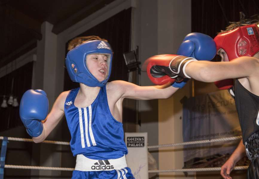 Attleborough Boxing Club Show'Lewis Bolingbroke ABC v Acer Smith March'Picture Mark Westley ANL-160603-233914009