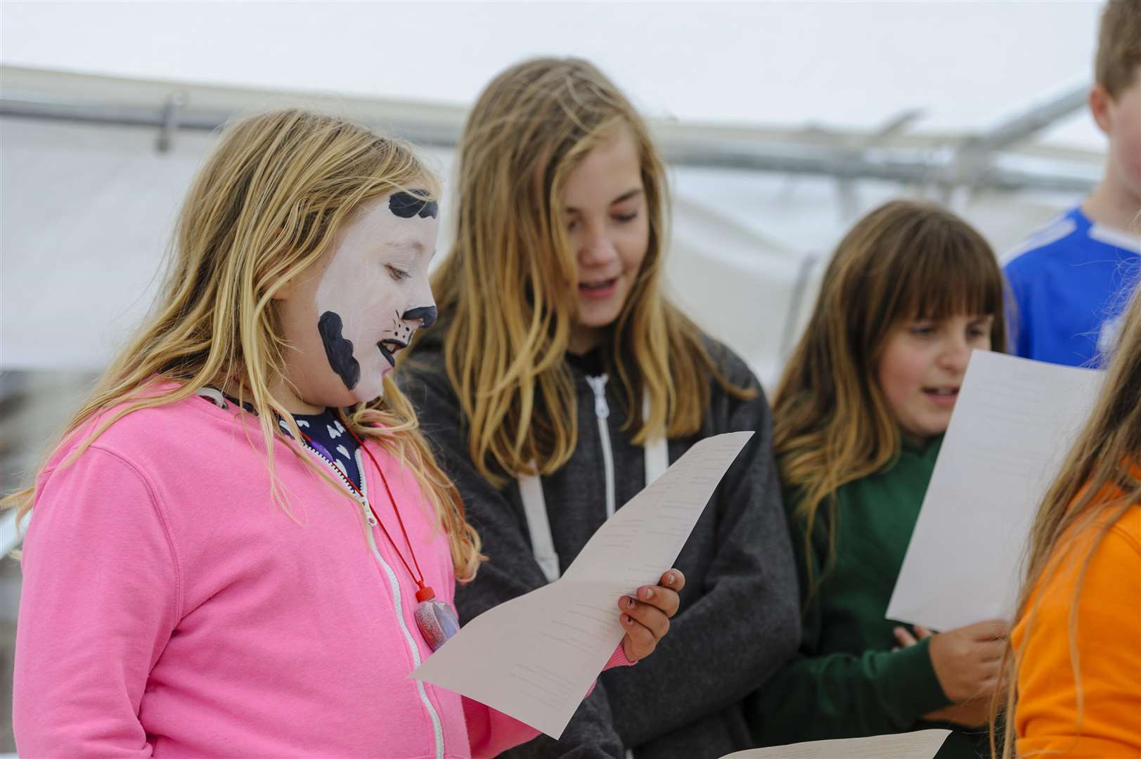 Children of Occold Village Primary school singing Mary Poppins songs. Picture by Mark Bullimore Photography.