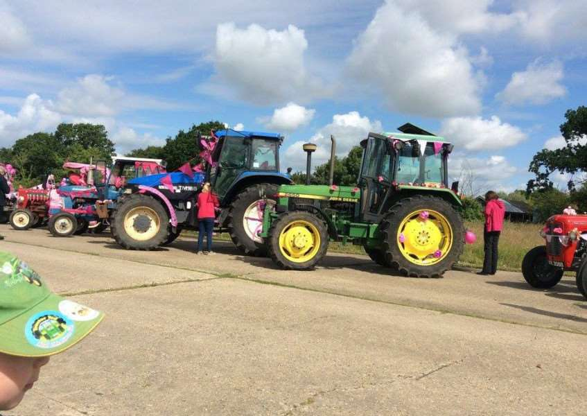 Annual Pink Ladies' Tractor Road Run 2016. Photo: William Baker ANL-160507-162248001