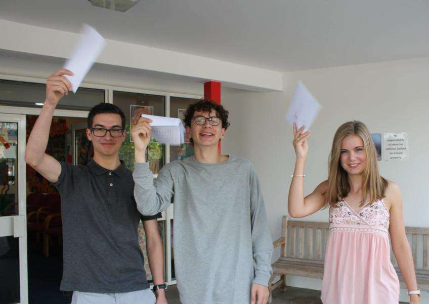 GCSE results day at Stradbroke High School.