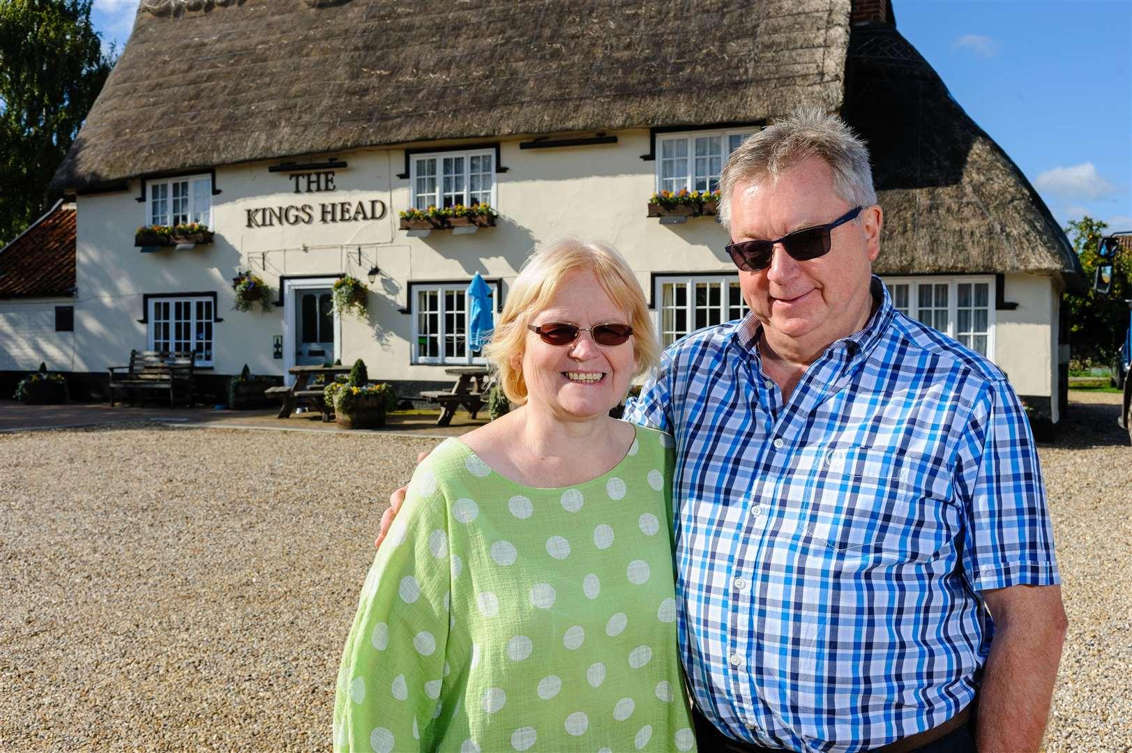 George and Angie Estcourt have put the 17th century building on the market as they want to retire. Picture by Mark Bullimore.