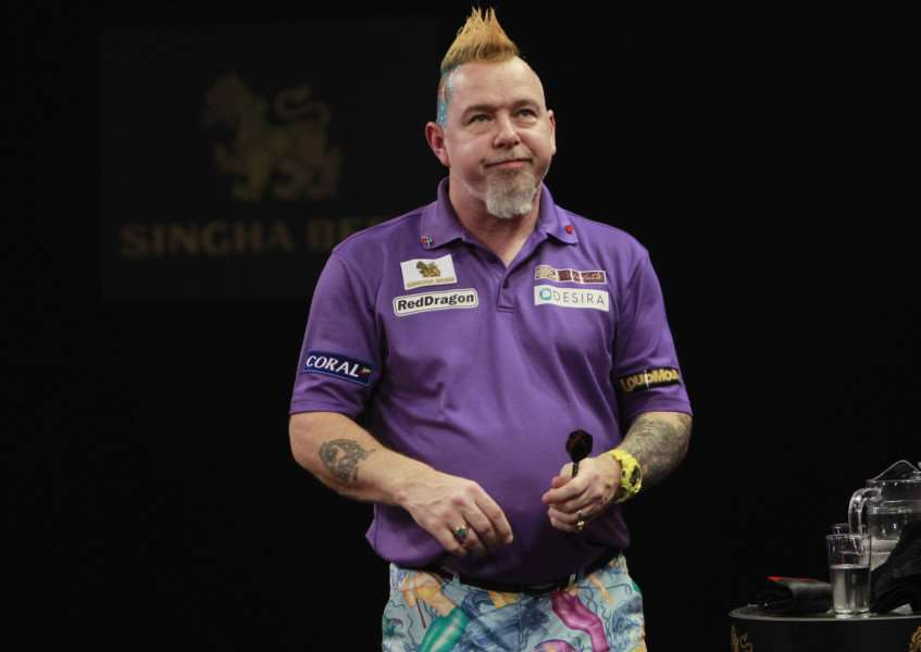 DISAPPOINTING DEFEAT: Mendham's Peter 'Snakebite' Wright, who let a 4-2 lead slip to eventually suffer a 6-4 German Darts Masters final defeat to world number one Michael van Gerwen