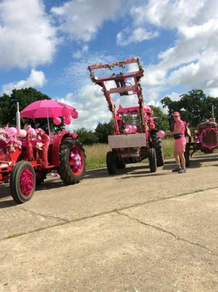 Annual Pink Ladies' Tractor Road Run 2016. Photo: William Baker ANL-160507-162235001