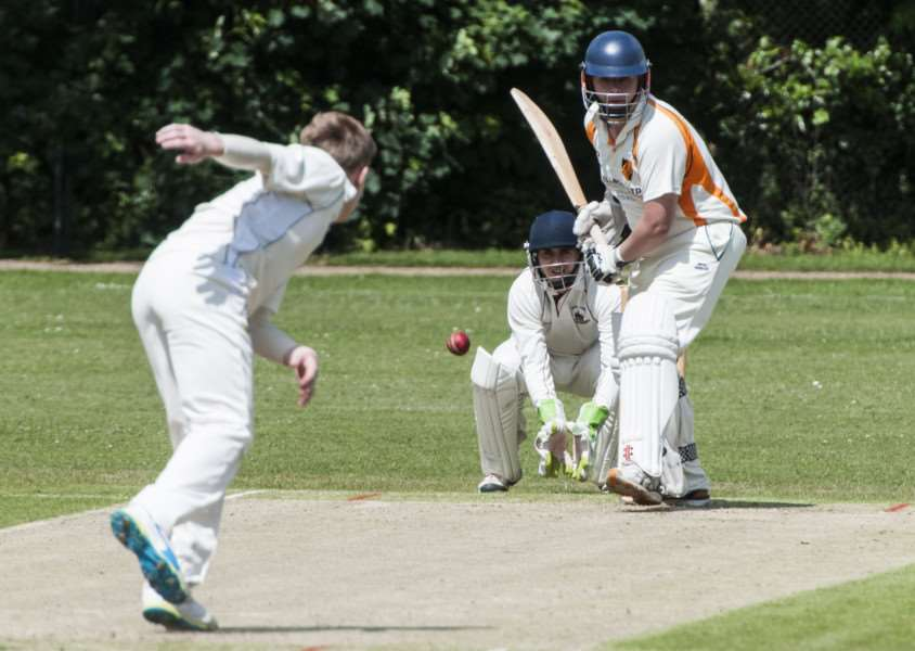 TOP SCORER: Chris Cooper (pictured batting earlier this season) scored a 69-ball 90 runs during Diss' win at Lowestoft