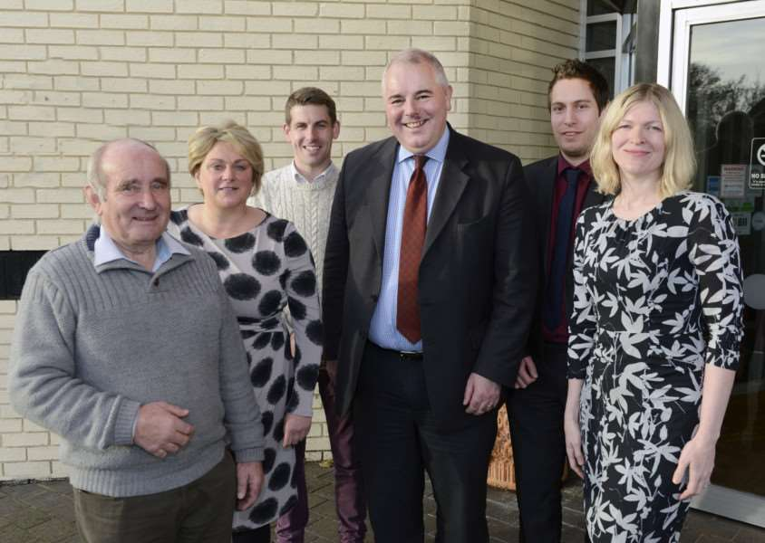 Diss Business Forum committee members - from left to right: Harold Rackham, Amanda Baldwin, Chris Billson, Richard Bacon MP, Leigh Thurston and Kerry Kirby.