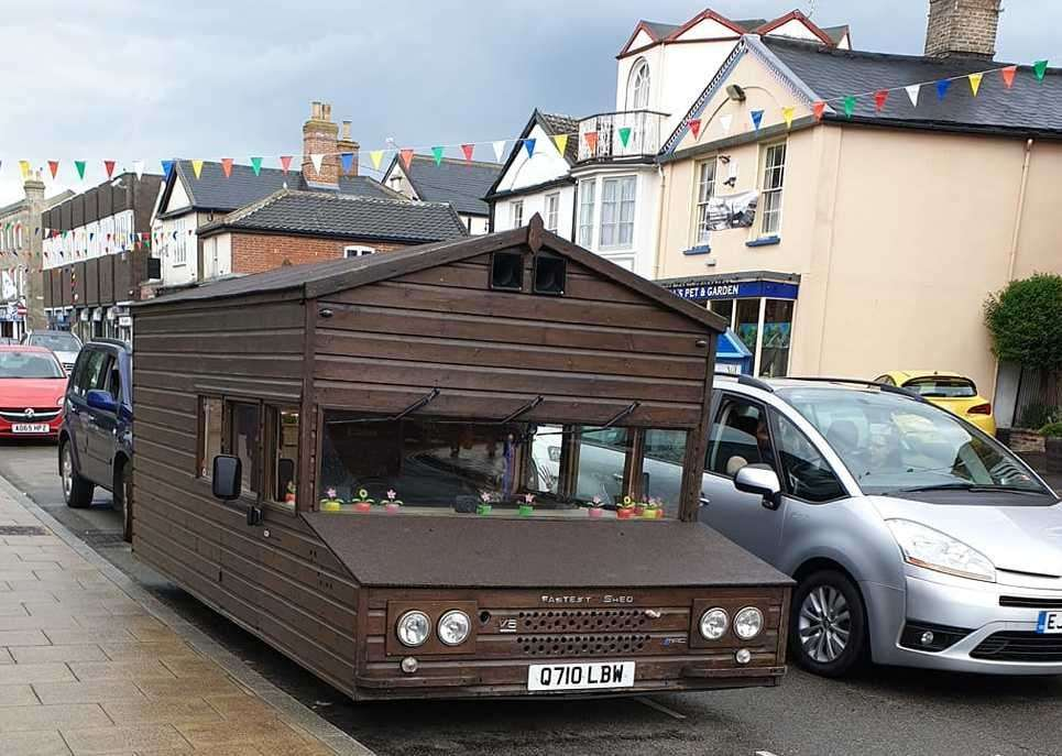 The world's fastest shed on wheels was spotted in Diss at the weekend. Picture by Sam Chambers.