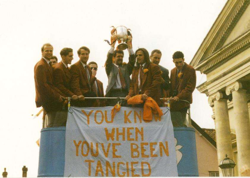 Memory Lane - Diss celebrates the FA Vase success of 1994. Pictures supplied by Dennis Cross. ANL-160405-092902001