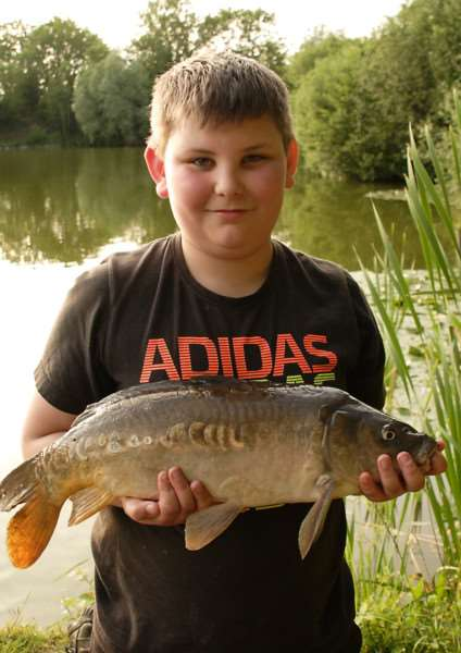 WORTHY WINNER: Harry Elton, who claimed his first victory of the season in round four of the Harleston Junior Angling club's Summer Series