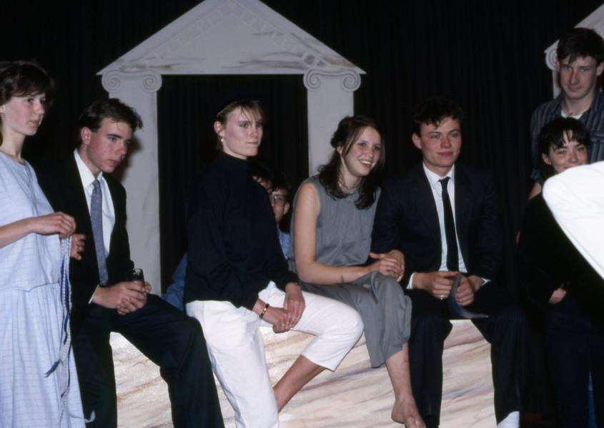 MEMORY LANE - Diss High School Sixth Form play rehearsal. May 1987.