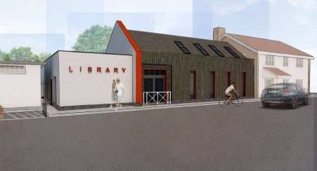 An early artist's impression of what Eye's new library could look like. CREDIT: Concertus.