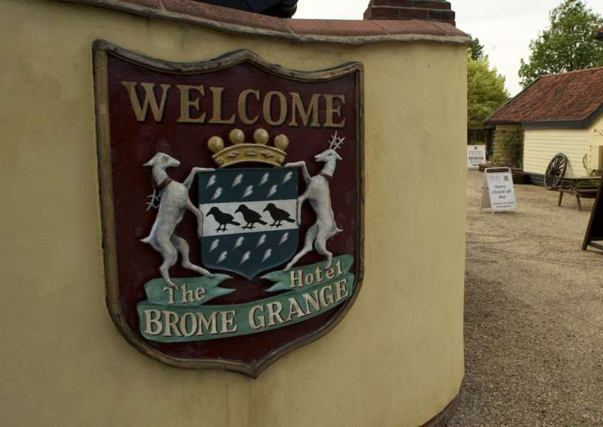 Brome, Suffolk. Brome Grange on the A140