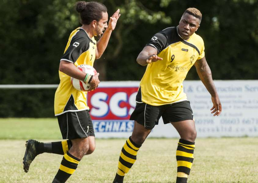 STAYING PUT: Paris Tuwizana (right) has agreed to remain at Debenham for next season