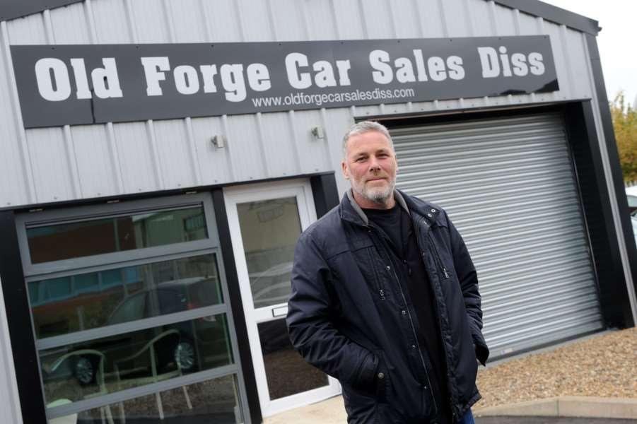 Kevin Mackie, owner, Old Forge Car Sales Diss